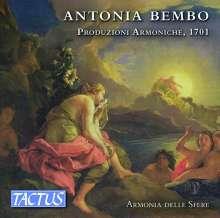 Antonia Bembo (1640-1710): Produzioni Armoniche, 3 CDs