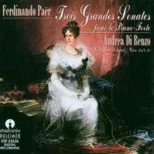 Ferdinando Paer (1771-1839): Klaviersonaten Nr.1-3, CD
