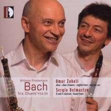 Wilhelm Friedemann Bach (1710-1784): Duette F.54-59, CD