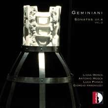 Francesco Geminiani (1687-1762): Sonaten für Violine & Cembalo op.4 Nr.2,4,5,8,9,11, CD