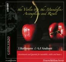 Francesco Giovanni Giuliani (1760-1818): Quartette für Mandoline, Violine & Cello Nr.1-6, 2 CDs