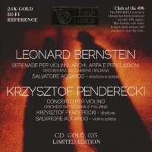 Leonard Bernstein (1918-1990): Serenade für Violine,Streicher,Harfe,Schlagzeug (24K-Gold-CD, limitierte Auflage), SACD