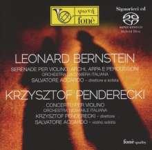 Leonard Bernstein (1918-1990): Serenade für Violine,Streicher,Harfe,Schlagzeug, SACD
