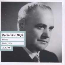 Benjamino Gigli - Recital, CD