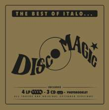 The Best Of Italo... Discomagic (Limited-Numbered-Special-Edition-Box), 4 LPs und 3 CDs