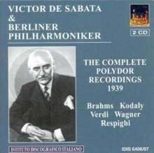 Victor de Sabata & Berliner Philharmoniker - Complete Polydor Recordings 1939, 2 CDs