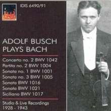 Adolf Busch plays Bach, 2 CDs