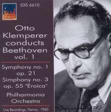 Otto Klemperer dirigiert Beethoven Vol.1, CD