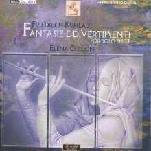 Friedrich Kuhlau (1786-1832): Divertimenti op.68 Nr.1-6 für Flöte solo, CD