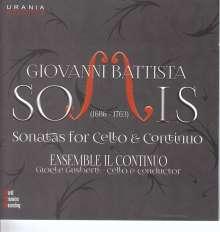 Giovanni Battista Somis (1686-1763): Sonaten für Cello & Bc Nr. 1-6, CD