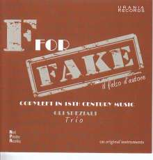 Trio Gli Speziali - F For Fake, CD