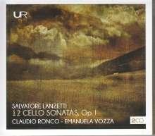 Salvatore Lanzetti (1710-1780): Sonaten für Cello & Bc op.1 Nr.1-12, 2 CDs