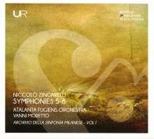 Nicolo Zingarelli (1752-1837): Sinfonie Milanesi Nr.5-8, CD