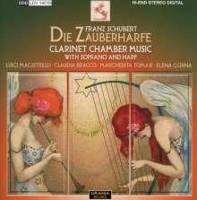 """Franz Schubert (1797-1828): Kammermusik mit Klarinette """"Die Zauberharfe"""", CD"""