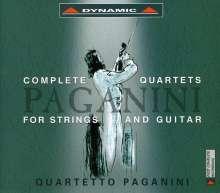 Niccolo Paganini (1782-1840): Gitarrenquartette Nr.1-15, 5 CDs