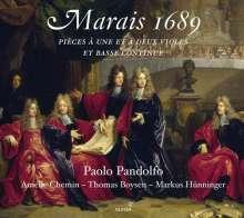 Marin Marais (1656-1728): Pieces a une et a deux Violes et Basse continue, CD