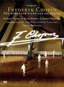 Frederic Chopin (1810-1849): On Stage with Chopin - Die Werke für Klavier & Orchester, 2 DVDs