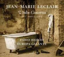 Jean Marie Leclair (1697-1764): Violinkonzerte op.7 Nr.1-3,5, CD