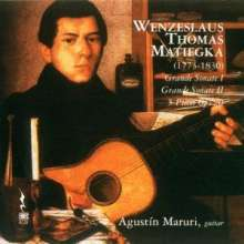 Wenzeslaus Matiegka (1773-1830): Grandes Sonates Nr.1 & 2 für Gitarre, CD