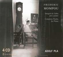 Federico Mompou (1893-1987): Sämtliche Klavierwerke, 4 CDs