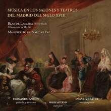 Musica En Los Salones Y Teatros Del Madrid Del Siglo XVIII, CD