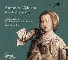 Antonio Caldara (1671-1736): 12 Sinfonie a quattro für Streicher & Bc, CD