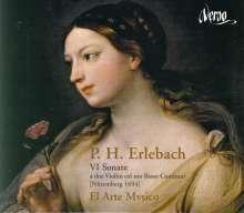 Philipp Heinrich Erlebach (1657-1714): Sonaten Nr.1-6 für 2 Violinen & Bc, CD