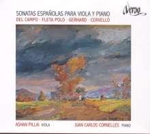 Ashan Pillai & Juan Carlos Cornelles - Spanische Sonaten für Viola & Klavier, CD