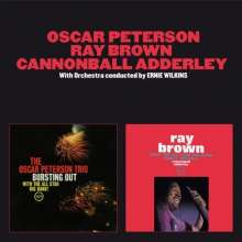 Oscar Peterson, Ray Brown & Cannonball Adderley: Bursting Out / Ray Brown With The All-Star Big Band, CD