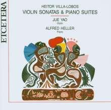 Heitor Villa-Lobos (1887-1959): Sonaten f.Violine & Klavier Nr.1-3, CD