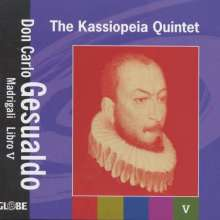 Carlo Gesualdo von Venosa (1566-1613): Madrigali a cinque voci Libro V, CD