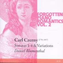 Carl Czerny (1791-1857): Klaviersonaten Nr.1-4, 2 CDs