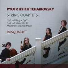 Peter Iljitsch Tschaikowsky (1840-1893): Streichquartette Nr.1 & 2, CD