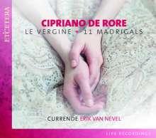 """Cipriano de Rore (1516-1565): 11 Madrigale """"Le Vergine"""", CD"""