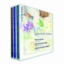 Georg Philipp Telemann (1681-1767): Concerti, Triosonaten, Fantasien, 3 CDs