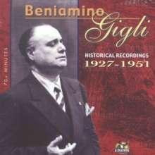Benjamino Gigli - Historical Recordings 1927-1951, CD
