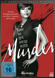 How to get away with Murder Season 1, 4 DVDs