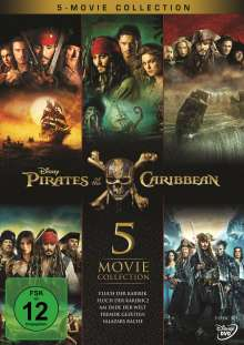 Pirates of the Caribbean 1-5, 5 DVDs