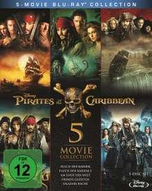 Pirates of the Caribbean 1-5 (Blu-ray), 5 Blu-ray Discs