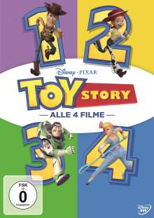 Toy Story 1-4, 4 DVDs