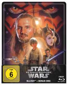 Star Wars Episode 1: Die dunkle Bedrohung (Blu-ray im Steelbook), 2 Blu-ray Discs