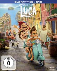 Luca (Deluxe Edition) (Blu-ray & DVD), 1 Blu-ray Disc und 1 DVD
