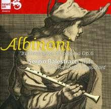 """Tomaso Albinoni (1671-1751): Sonaten für Flöte & Cembalo """"Trattenimenti da camera"""" op.6, 2 CDs"""