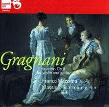 Filippo Gragnani (1767-1812): Sonaten für Violine & Gitarre Nr.1-3, CD