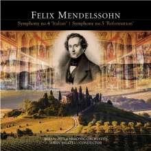 Felix Mendelssohn Bartholdy (1809-1847): Symphonien Nr.4 & 5 (180g), LP