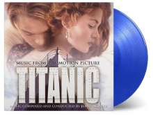 Filmmusik: Titanic (180g) (Limited-Numbered-Edition) (Translucent Blue Vinyl), 2 LPs