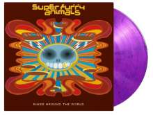 """Super Furry Animals: Rings Around The World (180g) (Limited-Numbered-Edition) (Pink/Purple Mixed Vinyl), 2 LPs und 1 Single 7"""""""
