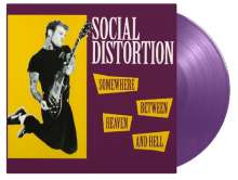 Social Distortion: Somewhere Between Heaven & Hell (180g) (Limited-Numbered-Edition) (Purple Vinyl), LP