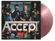Accept: Hot & Slow: Classics, Rock 'n' Ballads (180g) (Limited Numbered Edition) (Silver & Red Marbled Vinyl), 2 LPs