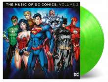 Filmmusik: The Music Of DC Comics: Volume 2 (180g) (Limited Numbered Edition) (Lime Green Vinyl), 2 LPs